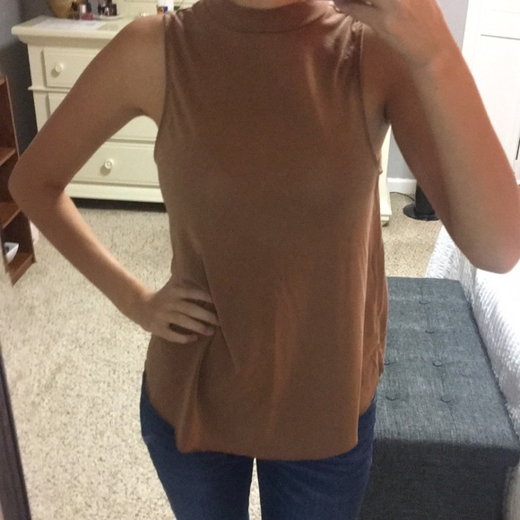 American Eagle Outfitters Tops - Faux suede tank top
